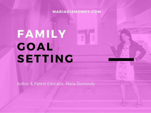 On Goal Setting and Family Goals