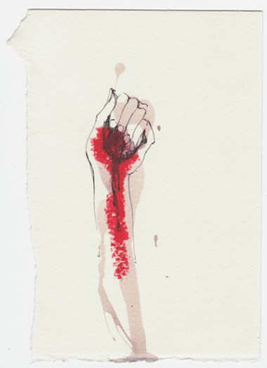 Maria Elvorith, 'Red wine, Lipstick and the World in my hand', 2009