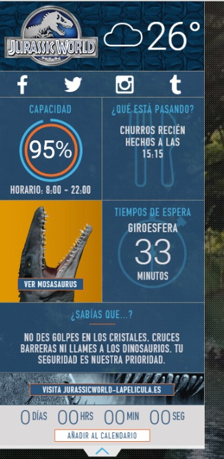 Jurassic World widgets