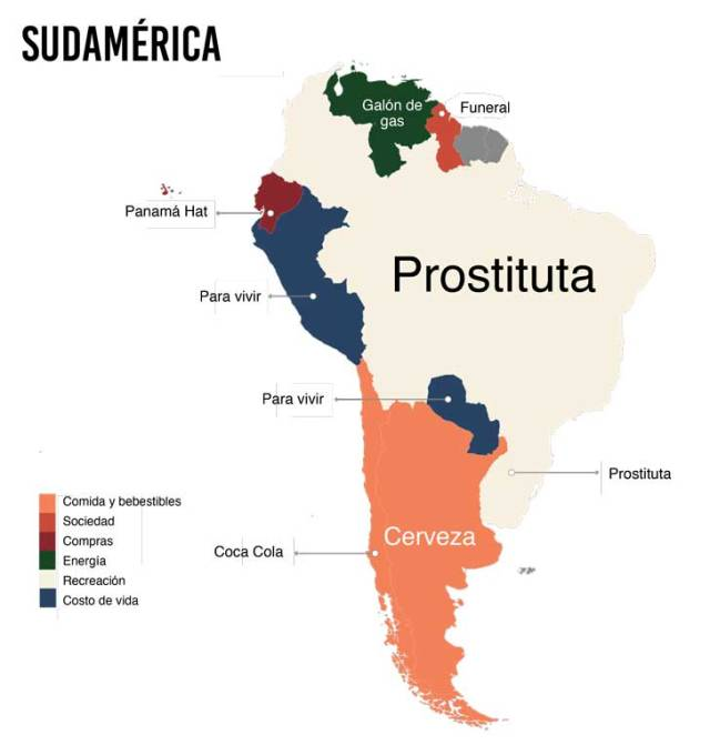 cuanto cuesta sudamerica