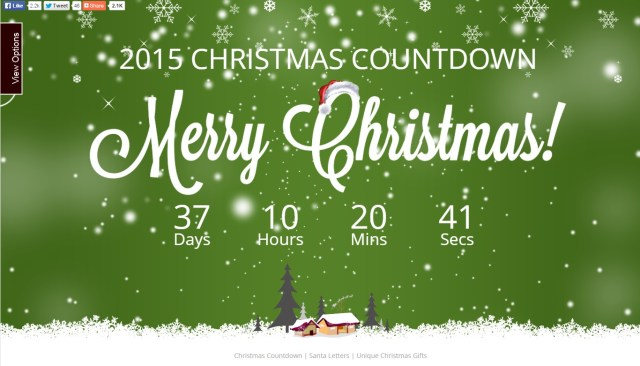 Cuánto falta para Navidad - ChristmasDayCountdown