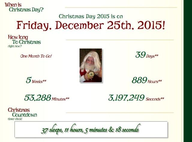 Cuánto falta para Navidad - Email santa countdown