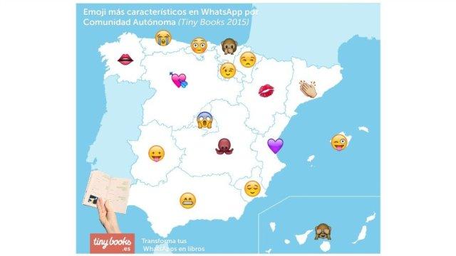 Los emoji más utilizados en España