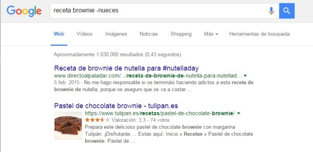 google -nueces