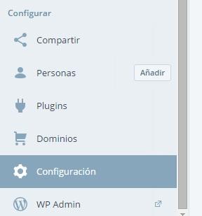 wordpress configuración