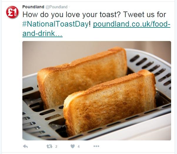 toast poundland