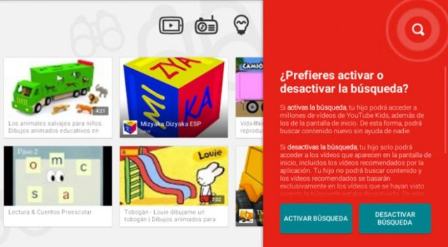 youtube kids busquedas