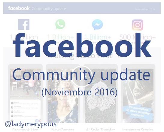 Actualización de la comunidad de Facebook (Noviembre 2016)
