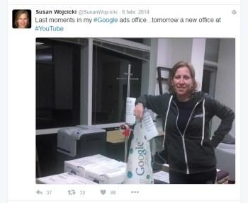 El último día de Susan Wojcicki en Google Ads
