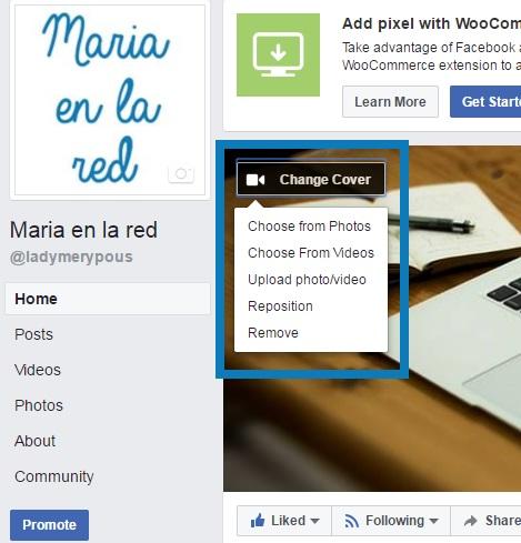 Video de portada en Facebook - Como ponerlo - Maria en la red