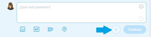 este es el boton para crear hilos de twitter
