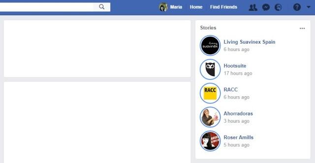 Facebook Stories imprescindibles en el nuevo algoritmo de Facebook | Maria en la red