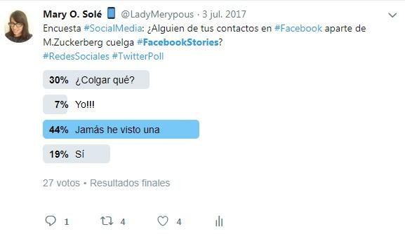 Facebook Stories encuesta en twitter
