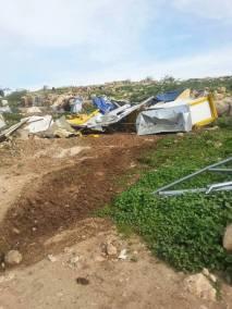Demolición en Jirbet Tana (Nablus). 2/3/16.