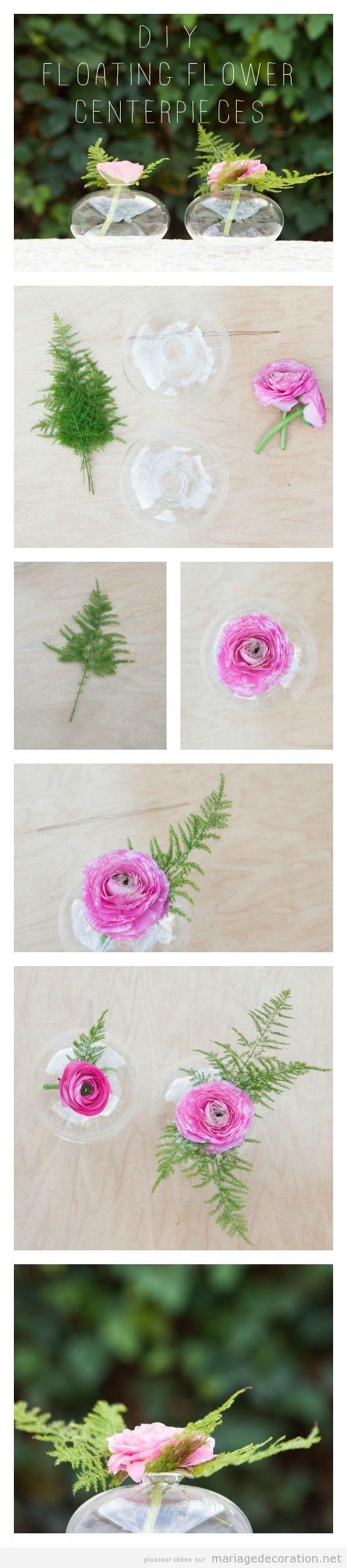 fleurs flottantes diy pour d corer un centre de table d coration mariage id es pour d corer. Black Bedroom Furniture Sets. Home Design Ideas
