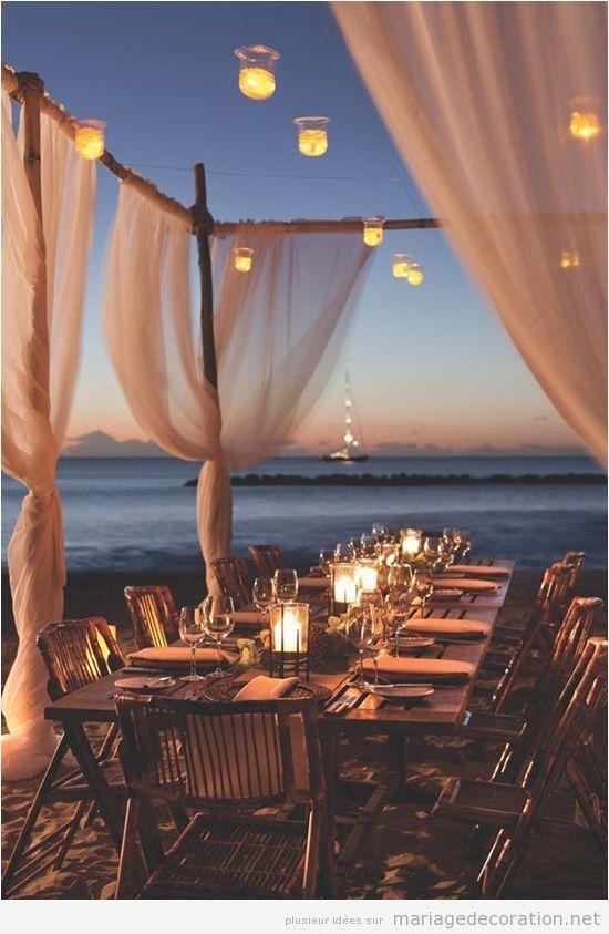 id es pour d corer un repas de noces intime sur la plage d coration mariage id es pour. Black Bedroom Furniture Sets. Home Design Ideas