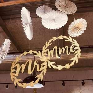 cercle monsieur madame, décoration mariage, décor