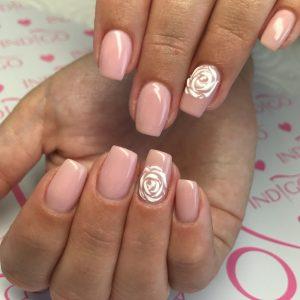 Onglerie, manucure mariage, motif ongles, babyboomer, rose, vernis rose, prothésiste Perpignan, manucure mariage