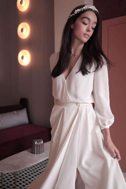 Maison Lemoine Paris, mariage, robes de mariée, blouse Emma