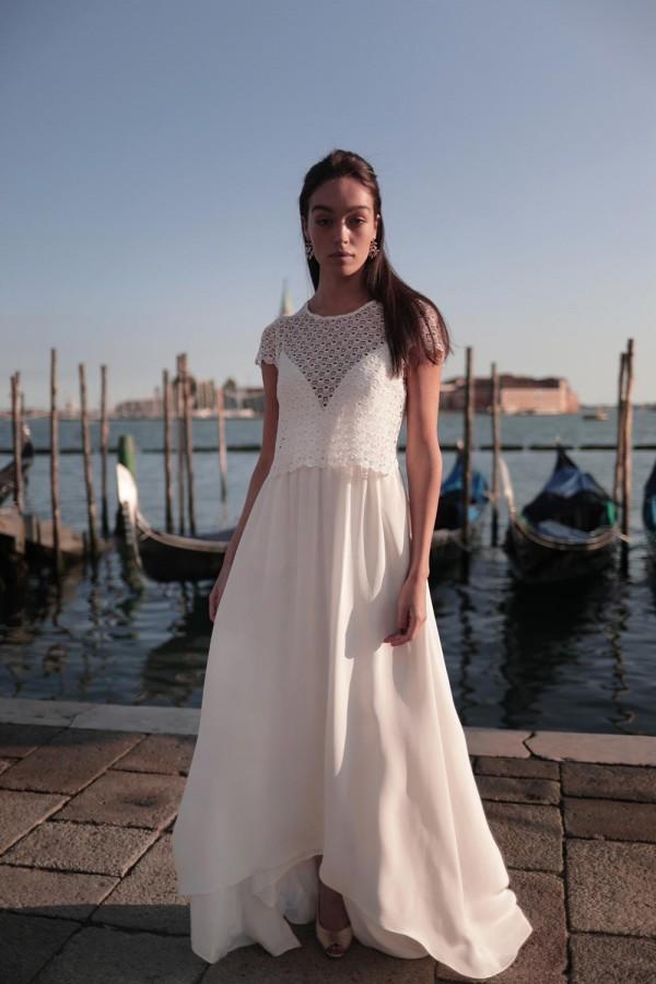 robe de mariée, jupe fluide, collection mariage 2021, Maison Lemoine Paris