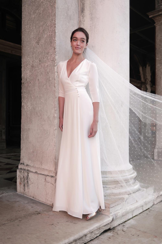 Modèle Casilda, robe de mariée, collection mariage 2021, Maison Lemoine Paris