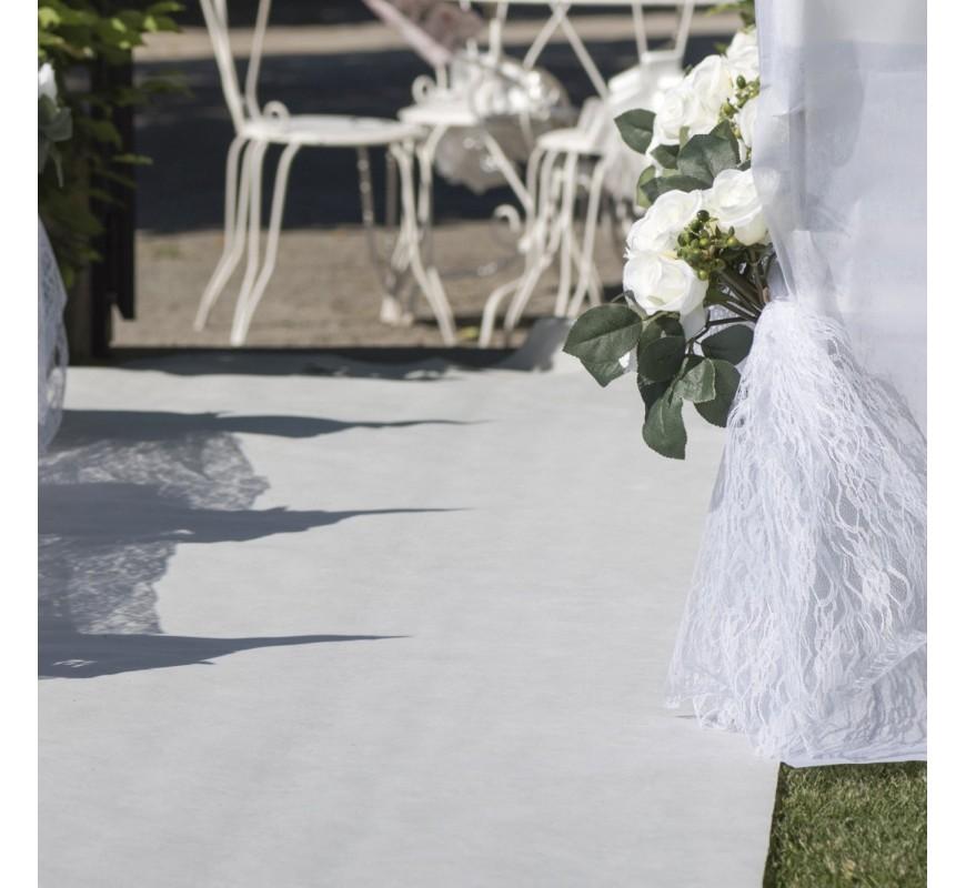 tapis de ceremonie blanc les couleurs
