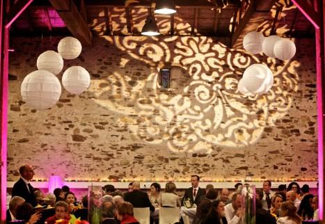 decoration lumineuse salle de reception Frossay Nantes Guermiton