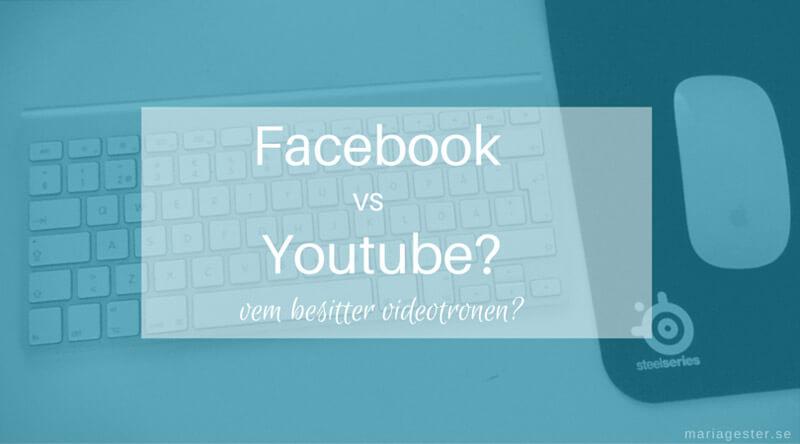 Youtube är videokungen på nätet, men Facebook klättrar mot tronen.