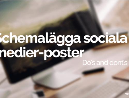 schemalägga sociala medier-poster