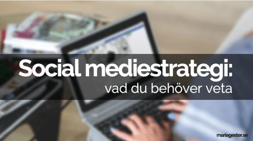 Social mediestrategi