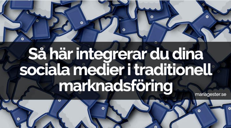 Så här integrerar du dina sociala medier