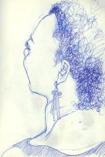 Sandra, pen on paper, 1986