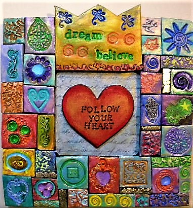 polymer clay mosaic art