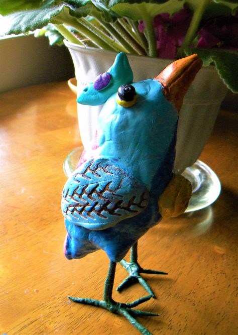Apoxie Sculpt bird