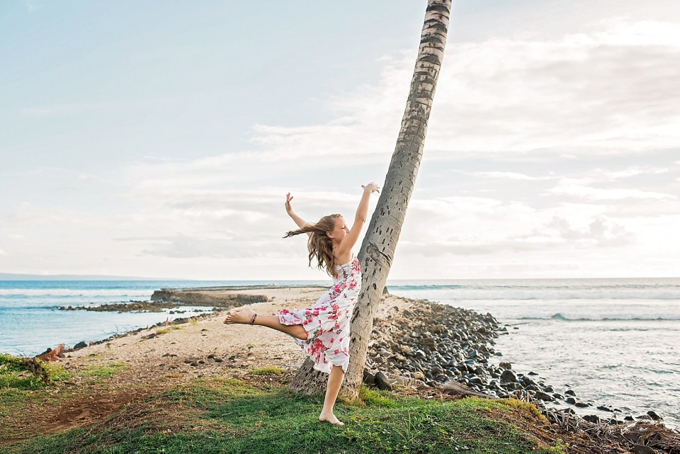 Dancing at the beach in Maui