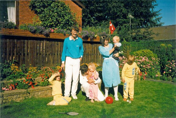 My brother his wife, me and my children in 1987