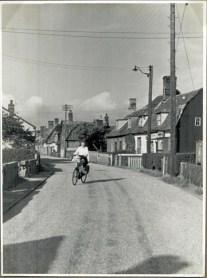 My mother on her way to the wrong side of the road at Harwich