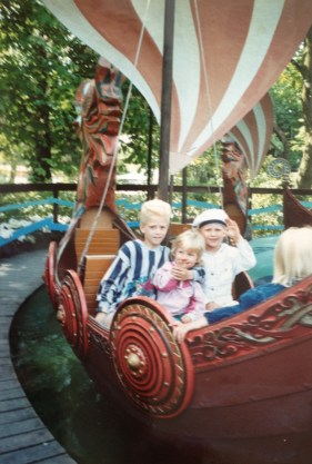 My youngest son in Tivoli 1992 with summer hat