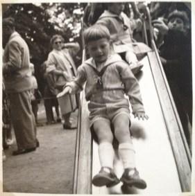 My twin brother in the Tivoli play ground 1955