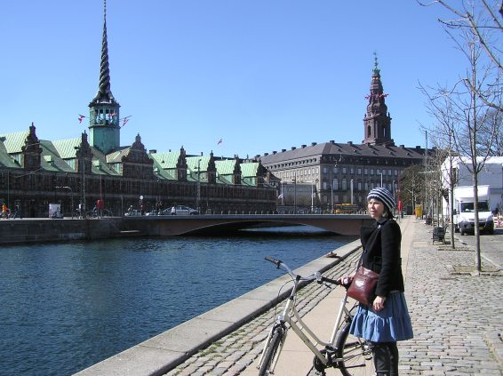 Christian's Brygge a view to Børsen and Christiansborg, the parliament