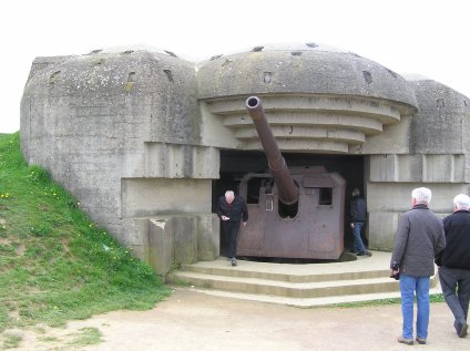 From the Atlantic wall with a 150 mm gun at Longues-Sur-Mer