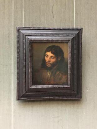 (1609-1669) Rembrandt's Jesus at Gemälde Gallerei in the former West Berlin