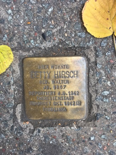 one of the Stolpersteine in Germany