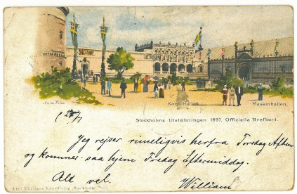 William is writing to his wife Laura from Sweden in 1892