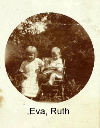 Eva and my mother Ruth one year old in 1924