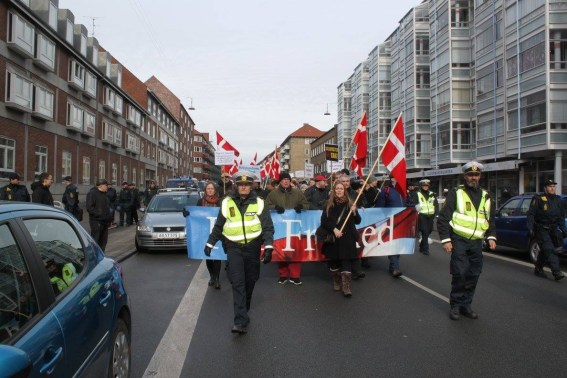 The front of the march in thearea where I was born