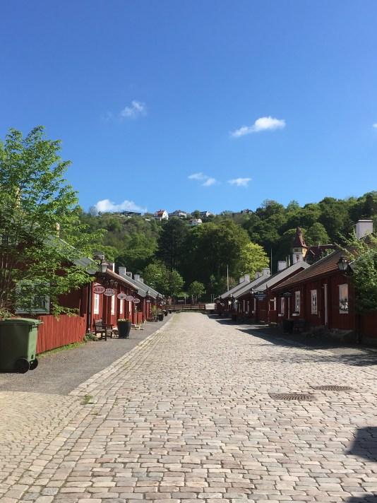 The historical street in Huskvarna
