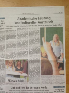 Looking large in the newspaper