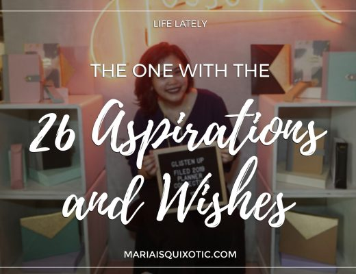 26 Aspirations and Wishes