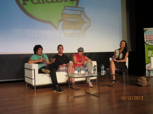 Alan Mills, Ángel Lozada y Amarilis Tavares (moderadora Karen Sevilla)